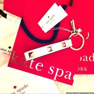 KATE SPADE Studded Lanyard Key Fob Bag Box Pouch